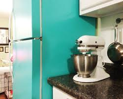 Valspar Turquoise Spray Paint Diy Painted Refrigerator Cozy Crooked Cottage