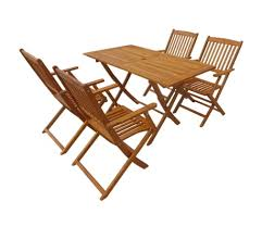 vidaxl 5 piece folding outdoor dining