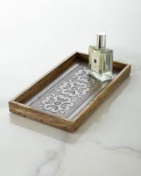 Bath Tray Gg Collection Wood And Metal Inlay Bath Tray Gracious Goods
