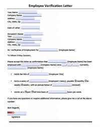 Verification Of Employment Letter Pdf The Letter Sample