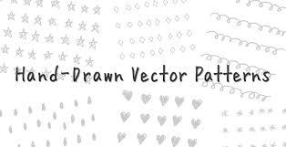 デザインのワンポイントにも使える手描き風ベクトルパターン素材hand
