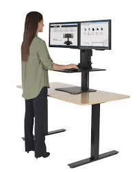 office desk standing.  Standing Desk U0026 Workstation Powered Standing Sit Stand Office Up At  Your Elevated With T