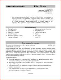 Job Resume Template Word Awesome Administrative Resume Templates Word Personal Leave 60