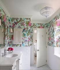 Wall Small Bathroom Designs Wonderful For Unique Floral Royal Ideas White Paint Colors Bathrooms Waterproof Modern Extremicure Furniture Small Bathroom Wallpaper Ideas Small Bathroom Designs