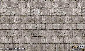 old brick wall with gray stones 3d
