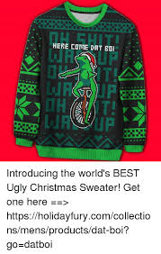 A HERE COME DAT Introducing the World's BEST Ugly Christmas ...