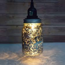 picture of diy hanging mason jar pendant light