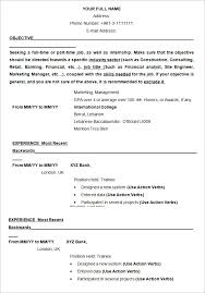 Part Time Job Cv Template How To Write A Resume Template 21277 Butrinti Org