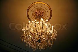 antique crystal chandeliers chandelier in the old danish castle stock photo new orleans
