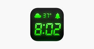alarm clock alarm weather on the app