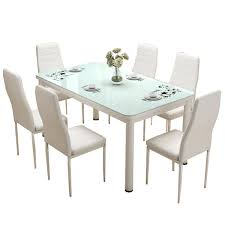Exciting Modern Black Dining Table And Chairs Furniture Glass Piece