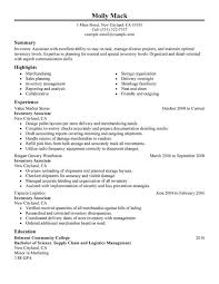 Inventory Associate Resume Examples Free To Try Today Pertaining