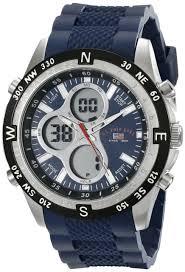 u s polo assn us9137 wrist watch for men u s polo assn sport men s us9137 blue silicone analog digital sport watch