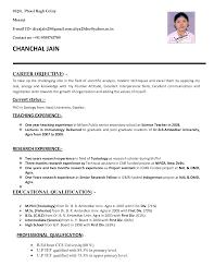 Sample Biodata For Teaching Job Resume Format For Applying