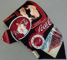 coca cola e logo silk tie novelty soda bottle trays ads retro 1993