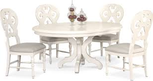 Charleston Round Dining Table And 4 Scroll Back Side Chairs