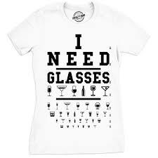 I Need Glasses Shirt Eye Chart Shirt Funny Drinking Shirt