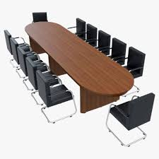 conference table with chairs 1 3d model max obj 3ds fbx 1