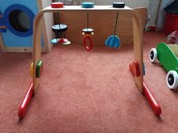 ikea leka wooden baby gym