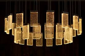contemporary chandelier glass aluminum led