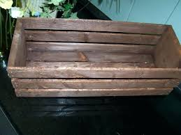 wood crate planter on wood crates table centerpieces rustic wedding wedding reception flower planter box