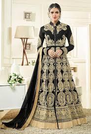 Designer Anarkali Suits Uk Black Georgette Partywear Designer Anarkali Suit In 2019