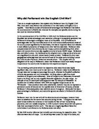 essay on the english civil war the causes of the english civil war history essay uk essays