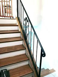 replace stair railing. Replace Stair Railing Cost How To Install A Wooden Handrail On Split Level Staircase Average Ra .
