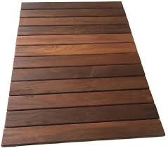 rollfloor camping rv outdoor rug mat wood deck tile pad american hardwood new