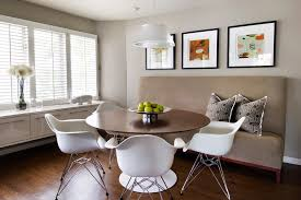 dining room modern with banquette breakfast nook centerpiece image by amw design studio banquette dining room furniture