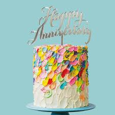 Happy Anniversary Cake Topper Mirror Build A Birthday