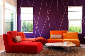 view in gallery living room showcases a completely diffe take on striped accent walls design christen