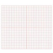 Graph Paper Red 3 Grid Xy Coordinate Pack Of 500 Math