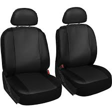 oxgord faux leather bucket seat cover set for car truck van suv airbag compatible com