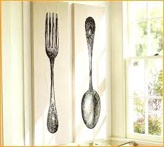 oversized cutlery wall art spoon and fork wall decor full size of spoon and fork wall