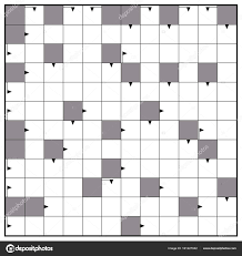 Blank Crossword Template Blank Crossword Puzzle Square Background Stock Vector © Furian 7