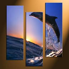 3 piece photo canvas home decor dolphin canvas photography wildlife canvas wall art on dolphin canvas wall art with 3 piece huge pictures dolphin canvas wall art water multi panel