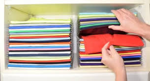 Folding Template For Clothes Organized Closet Ezstack Folded Stacked Clothing Organizer