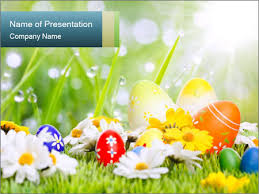 Spring Powerpoint Easter Eggs In Spring Sunlight Powerpoint Template Infographics Slides