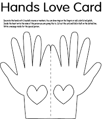 Small Picture Hands Love Card crayolacouk