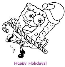 My Family Fun Spongebob Christmas Coloring Pages Coloring Pages Of