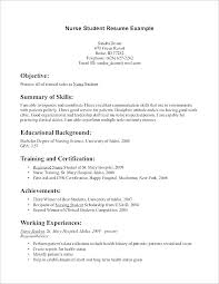 Resume Students Nursing Student Resume Examples New Nurse Resume Template Cover