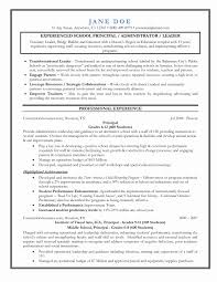 Server Administrator Resume Format Lovely Principal Resume