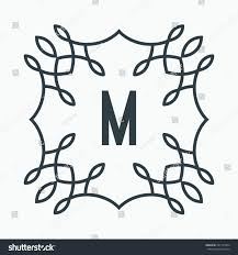 M Lettering Design Black White Letter M Lettering Design Stock Vector Royalty
