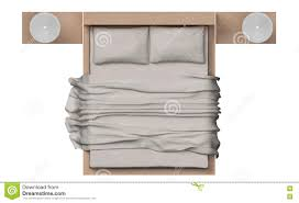 white bed top view. Brilliant Bed Top View Of Bed With Wood Frame On White Background Stock Image For White Bed View T