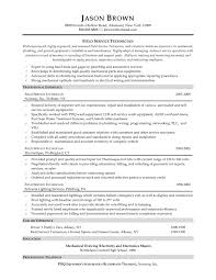 Field Service Technician Resume Examples