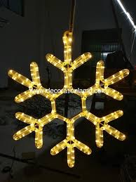 china outdoor ornament hanging snowflake motif led light supplier