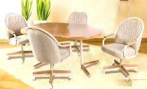 outstanding kitchen breathtaking dining room chairs casters asters with on wheels inspirations 4