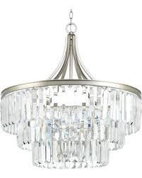 eggar 6light crystal chandelier finish silver ridge silver crystal chandelier51