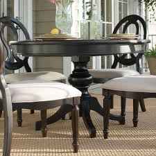 summer hill round single pedestal dining table midnight